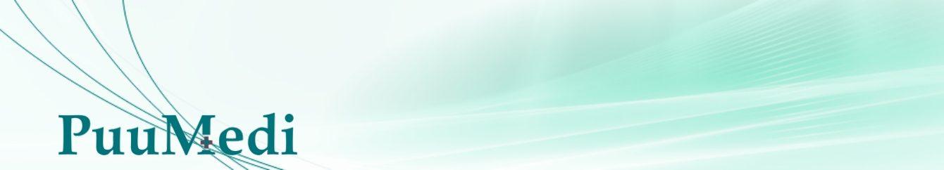 Abstraktne banner Puumedi logoga